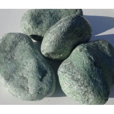Жадеит галтованный камень для печи бани и сауны 1 кг в фирменной упаковке