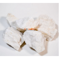 Кварц белоснежный колотый камень для бани и сауны 1 кг