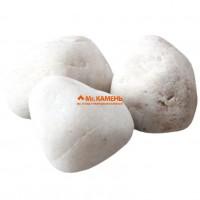 Белый кварц шлифованный отборный для бани и сауны, 1кг