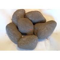 Хромит камень для бани и сауны шлифованный  1 кг