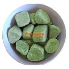 Жадеит шлифованный Хакасия сортовой камень для бани и сауны, 1 кг