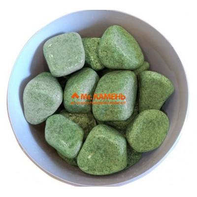 Жадеит шлифованный Хакасия сортовой камень для бани и сауны, 1 кг в фирменной упаковке