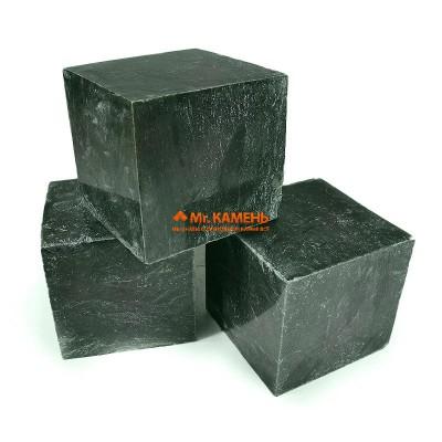 Нефрит кубики полированные камень для бани и сауны, 1 кг в фирменной упаковке