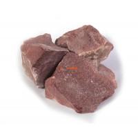 Малиновый кварцит колотый для бани и сауны, 1 кг