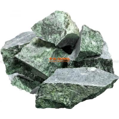 Нефрит колото-пиленый камень для бани и сауны, 1кг в фирменной упаковке
