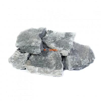 Талькохлорит колотый камень для бани и сауны, 1кг в фирменной упаковке