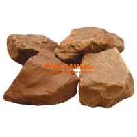 Яшма сургучная камень для бани и сауны, 1 кг