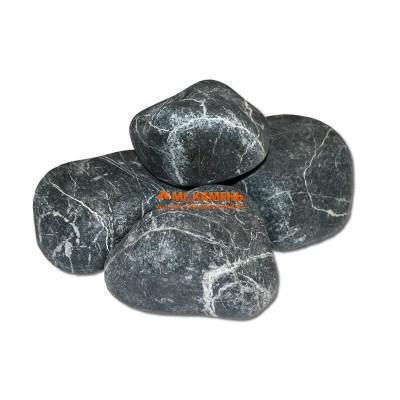 Змеевик галтованный камень для бани и сауны, 1кг в фирменной упаковке