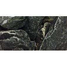 Нефрит обвалованный (тёмно-болотный) для бани и сауны, 1 кг